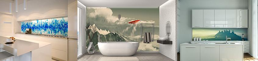 Fototapety w kuchni i łazience