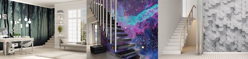 Dekoracja ściany przy schodach