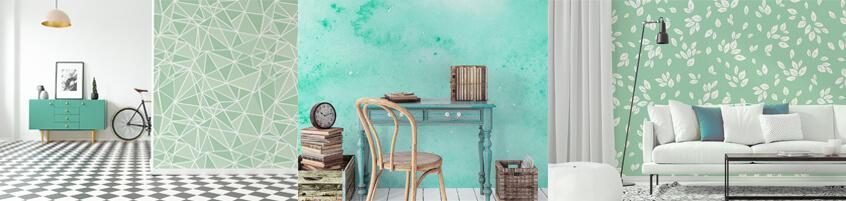 Fototapeta miętowa – delikatna dekoracja wnętrza