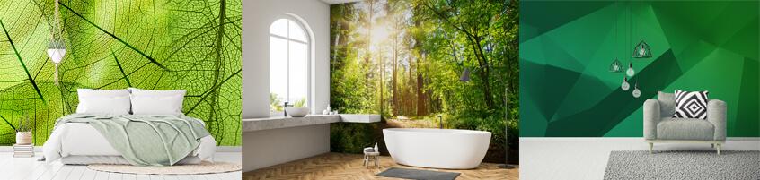 Naturalne piękno – zielona fototapeta
