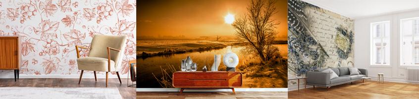Fototapety vintage – salon w stylu retro