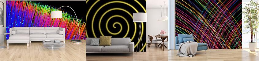 Fototapety z neonami – sposób na rozświetlenie pomieszczenia