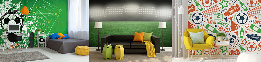 Fototapety, które sprawdzą się w pokoju fana piłki nożnej