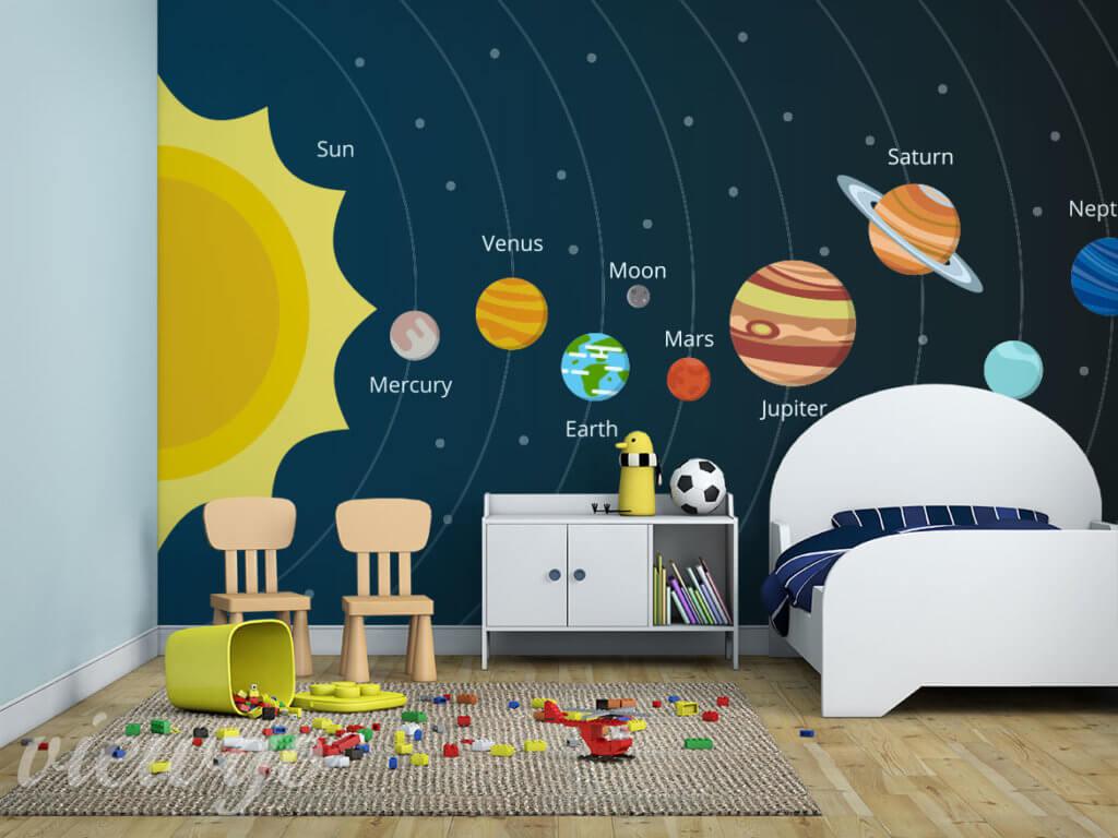 Bajkowy układ słoneczny - Fototapety Viewgo