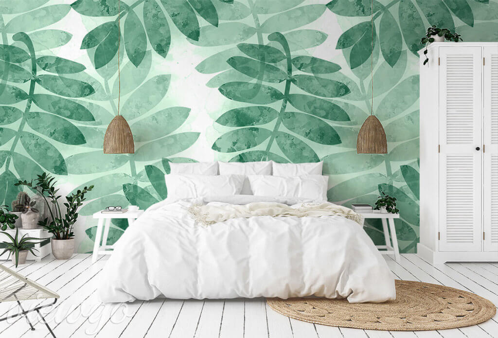 Fototapeta - Zielone liście jarzębiny - Viewgo