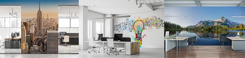 Fototapeta w przestrzeni firmowej – przełamujemy nudę w biurach