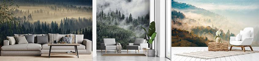 Sposób na niepowtarzalne wnętrze –Fototapety z motywem mglistego lasu