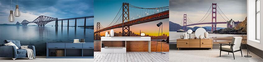 Akcent architektury w twoim mieszkaniu – fototapeta z mostem