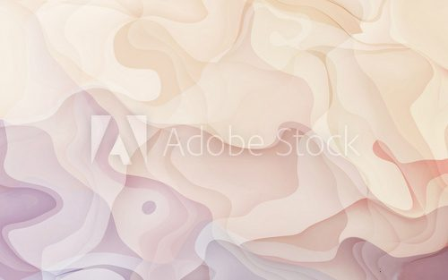 Fototapeta Abstract curve background / Watercolor Soft pink smooth and geometric curve Art