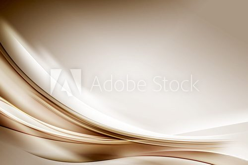 Fototapeta Abstract Gold Waves Composition