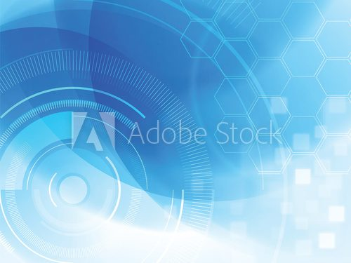 Fototapeta abstract technology background with hexagons
