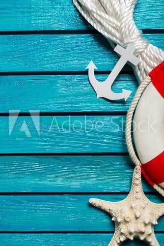 Fototapeta Anchor, aquatic, backdrop.
