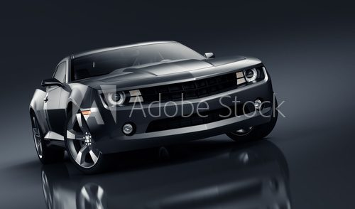 Fototapeta Black sports car
