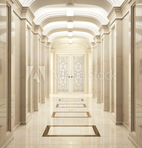Fototapeta Entrance hall in classic style 4