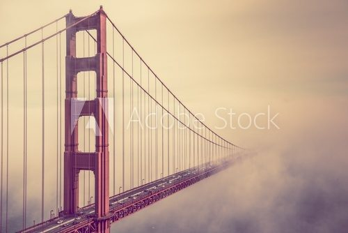 Fototapeta Golden Gate Into the Fog
