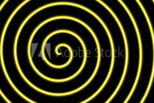Fototapeta Illustration of a black background with a yellow spiral