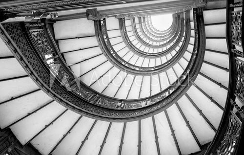 Fototapeta Low angle view of spiral staircase, Chicago, Cook County, Illino