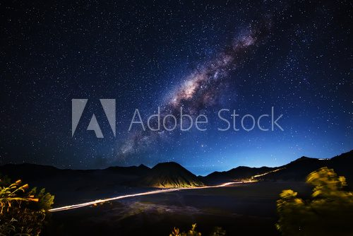 Fototapeta Milky way across Mt.Bromo,East Java,Indonesia