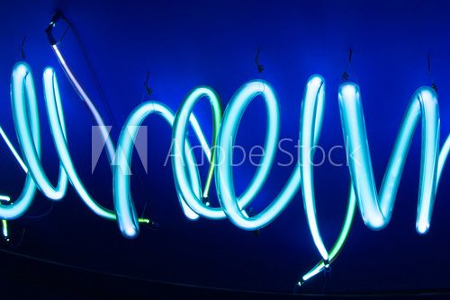 Fototapeta neon tubes soft background texture