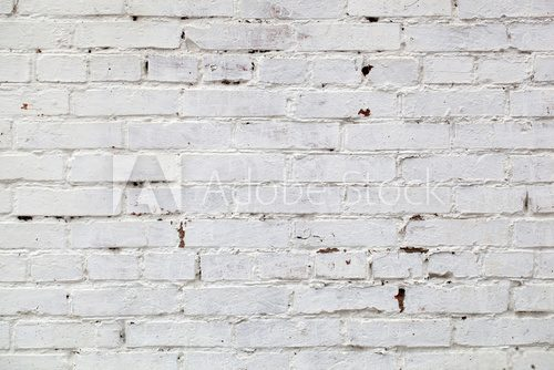 Fototapeta Old White Brick Wall Background