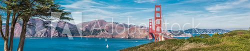 Fototapeta Panorama of the Golden Gate bridge