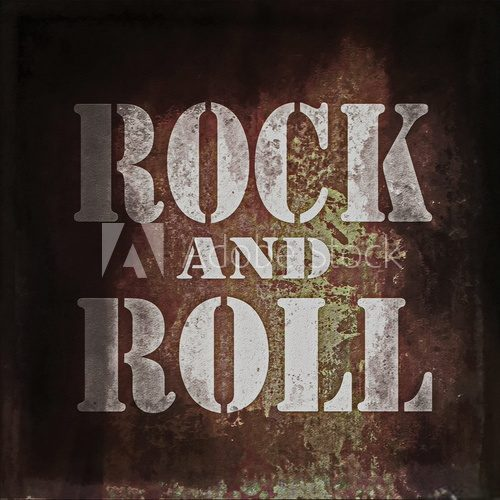 Fototapeta rock and roll music, old rusty wall background