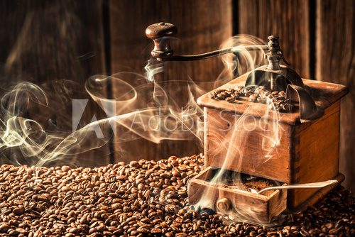 Fototapeta Taste of roasted coffee seeds