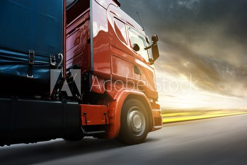 Fototapeta Truck at Sunset