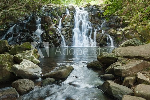 Fototapeta Waterfalls Vacoаs in Vallee des Couleurs. National Park Cascades. Mauritius Island