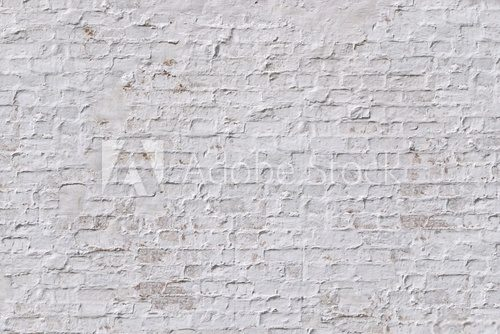 Fototapeta White grunge brick wall background
