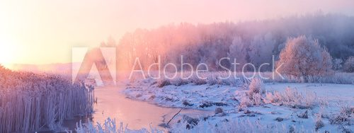 Fototapeta Winter sunrise