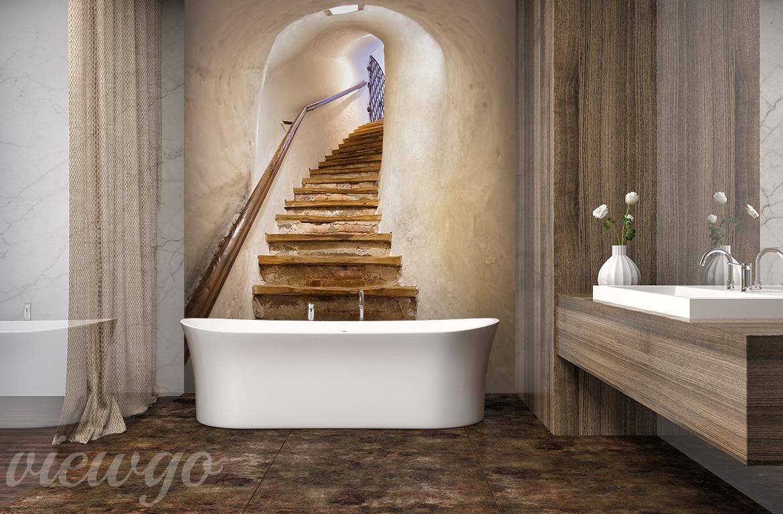 Drewniane Schody Aranżacja Do łazienki Fototapety Viewgo